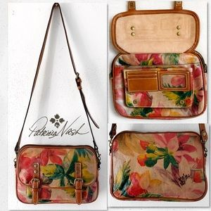 Patricia Nash Multi Floral Crossbody Satchel Bag